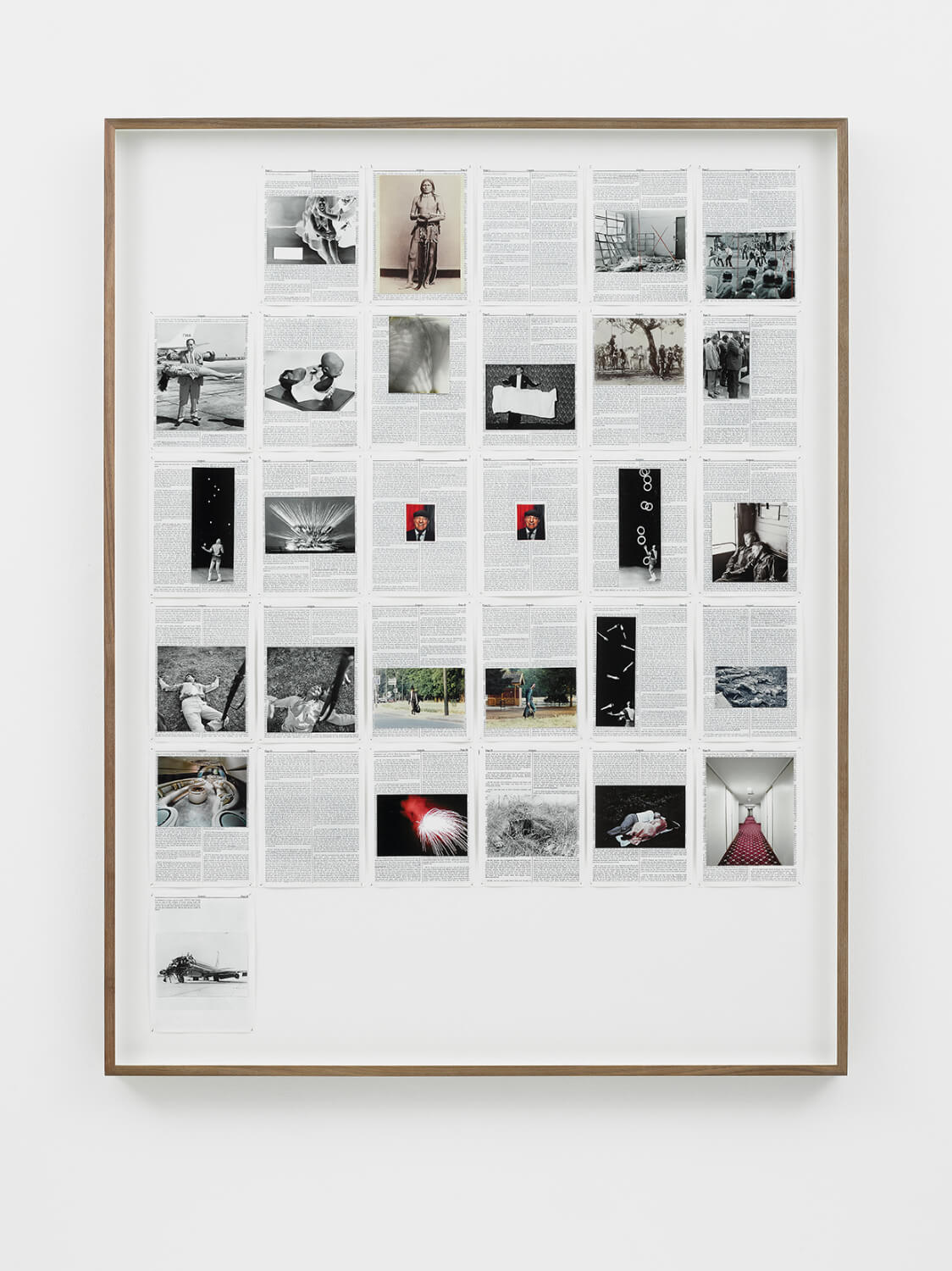 Genesis, Divine Violence, 2013, King James Bible, Hahnemühle print, brass pins, 1447mm x 1123mm, Image courtesy of Lisson Gallery, London
