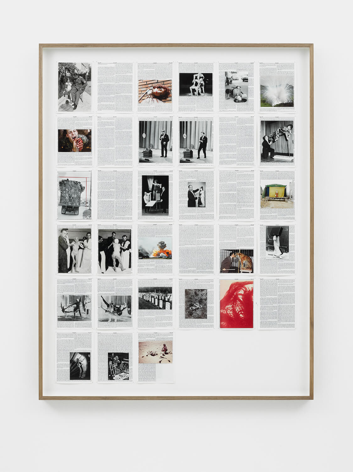 Jeremiah, Divine Violence, 2013, King James Bible, Hahnemühle print, brass pins, 1085mm x 1415mm, Image courtesy of Lisson Gallery, London