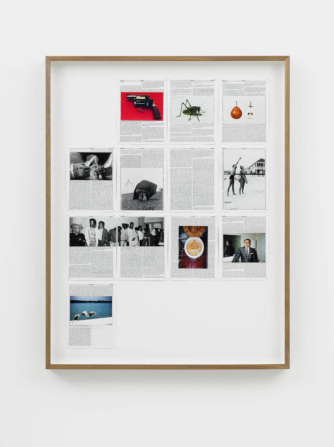 Proverbs, Divine Violence, 2013, King James Bible, Hahnemühle print, brass pins, 1085mm x 535mm, Image courtesy of Lisson Gallery, Londo
