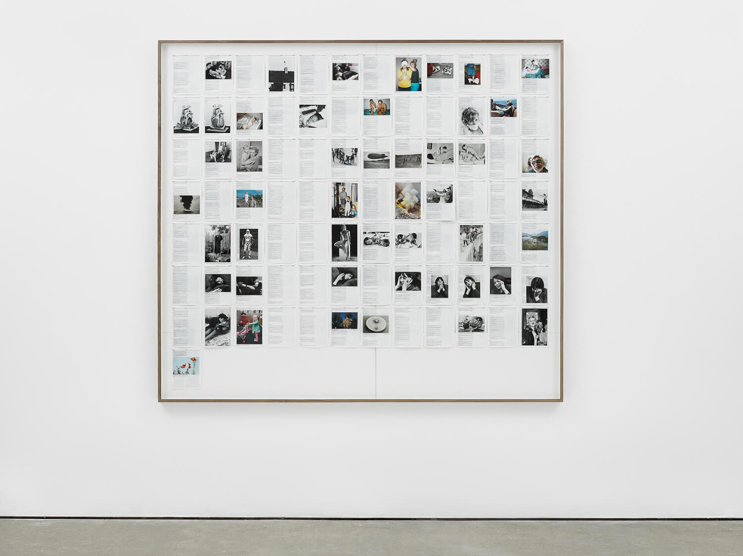 Psalms, Divine Violence, 2013, King James Bible, Hahnemühle print, brass pins, 1893mm x 2117mm, Image courtesy of Lisson Gallery, London