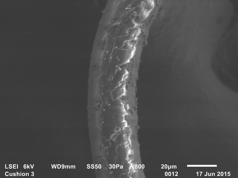 Trace evidence 9, Freud's Qashqa'i rug, Adam Broomberg & Oliver Chanarin, 2015, SEM, Secondary electron image, 35mm slide