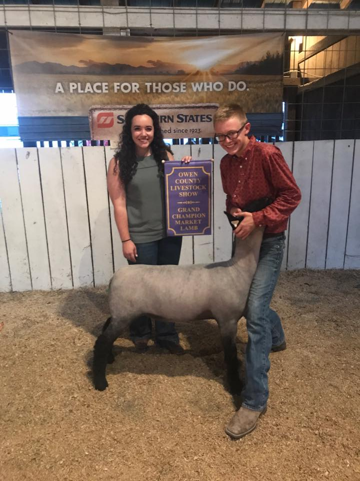 Campbell Coyle - Grand Champion Lamb | Owen Co. Fair | KY