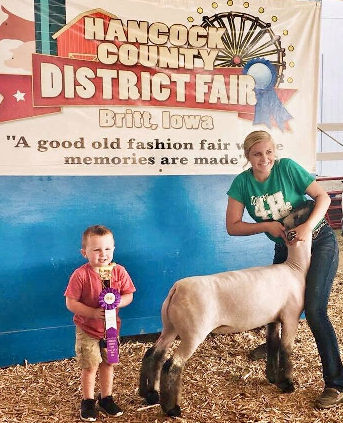 Grand Champion Lamb - Hancock Co. District Fair (IA) Shown by Maegan Schorpp