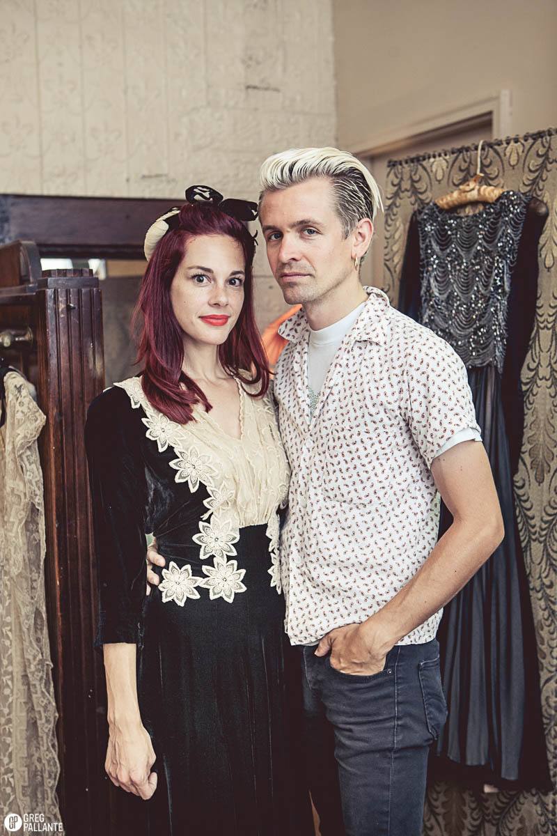 Meika and Warren Franz. Owners of Another Man's Treasure Vintage in Jersey City and the 'Lucky Seven' shirt. Shot on August 4th 2014. CLICK TO SHOP AMT VINTAGE