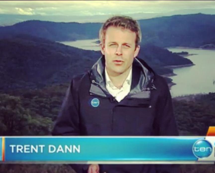 Trent Dann of Channel 10 News