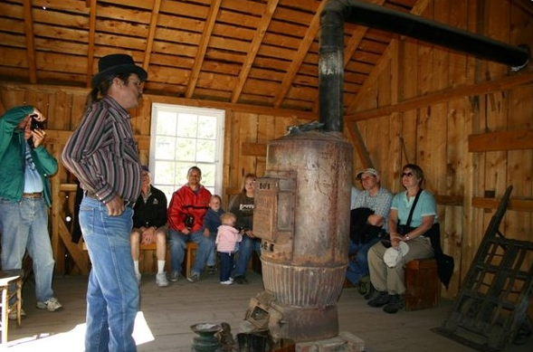 A mining expert at the Georgetown Loop explains the mining process of the late 1800s.