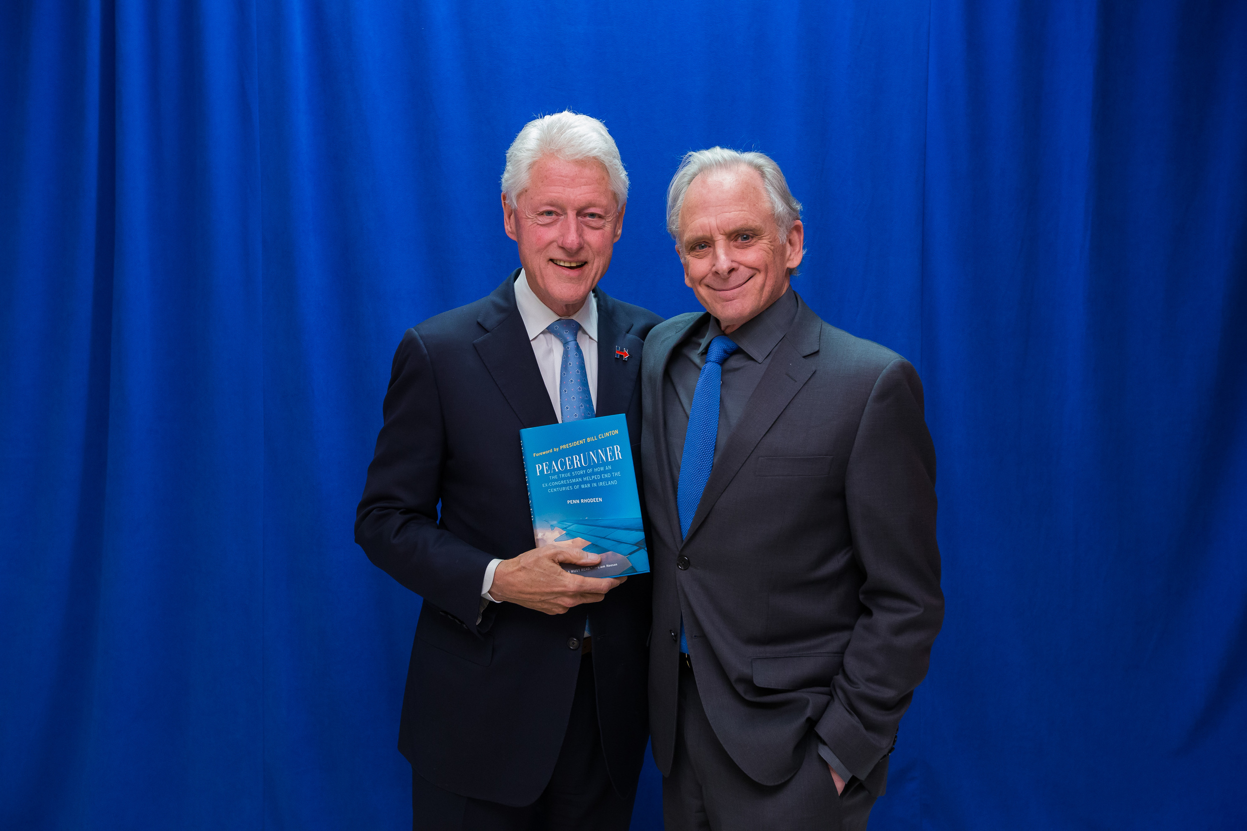 The author with President Bill Clinton in May