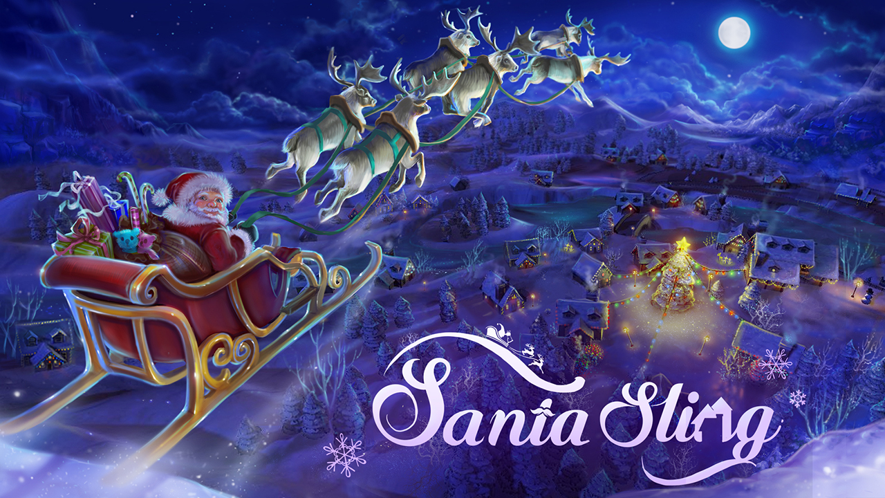 SANTA SLING - VR     Christmas is here!    Have you ever dreamed of helping Santa deliver all the magically crafted toys to the children of Earth? With our game the most wonderful time of the year is now the most wonderful VR time of the year!     Check it out in the Steam store! (Compatible with the HTC Vive)