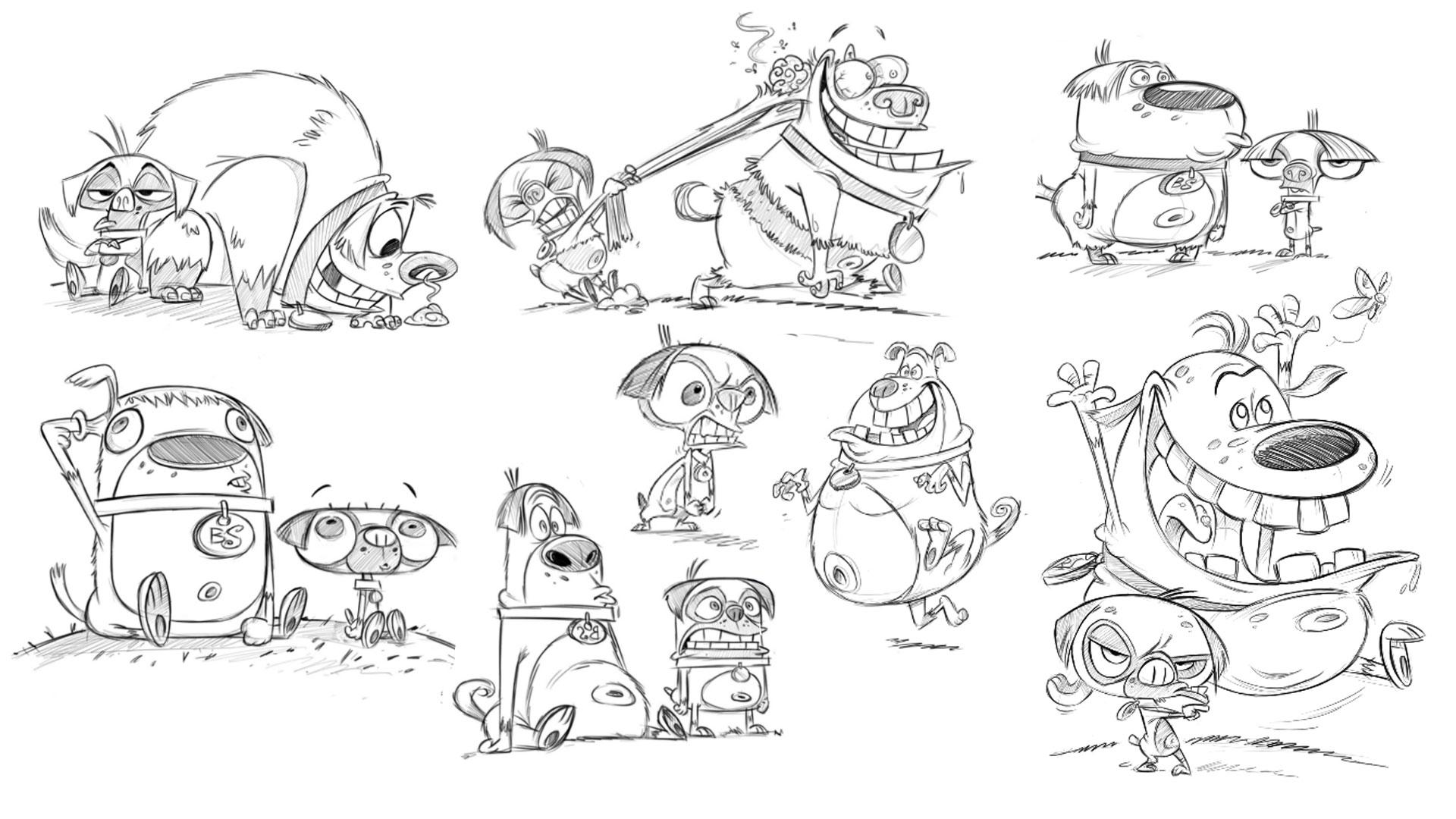 Disney XD Main Character Poses, Original Series Development