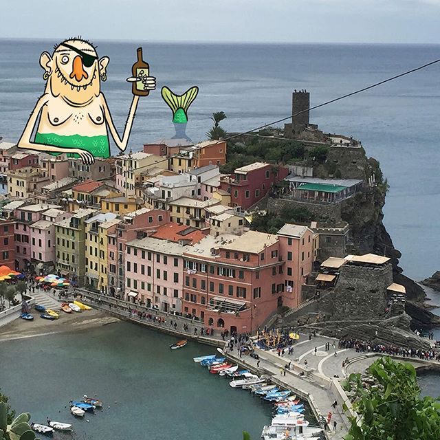 Even Mermen in the Cinque Terre need a little time out. #cinqueterre #design #animation #italy #travel