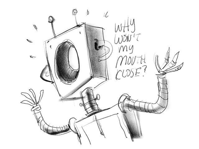 Sunday doodle. #design #animation #robot