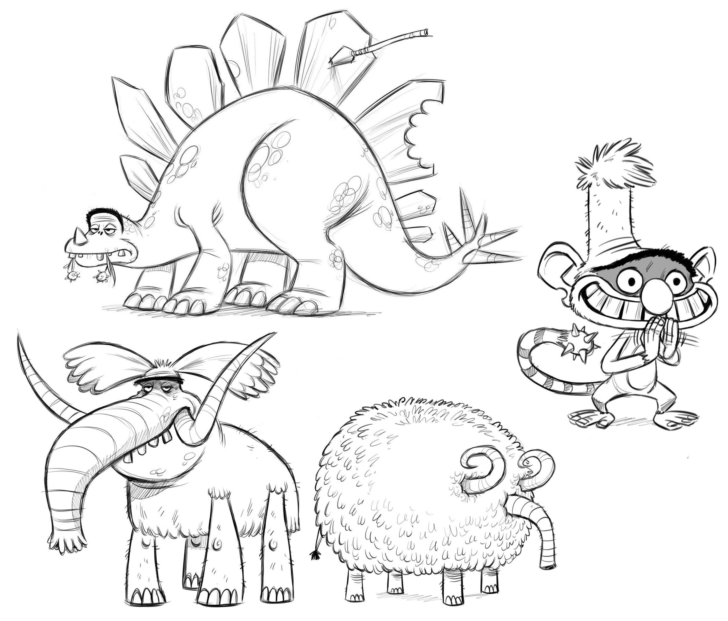Stegasaurus monkey and mammoth.jpg