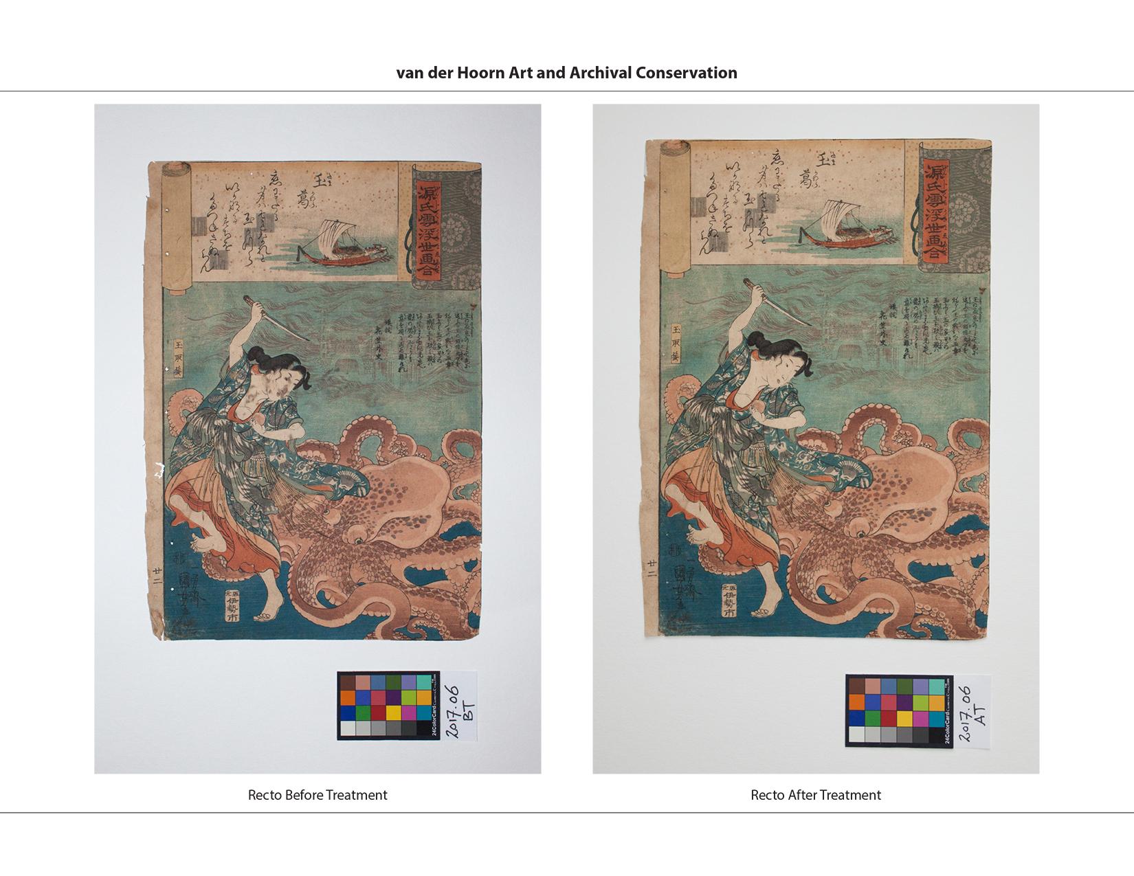 Kuniyoshi's 'Tamakatzura Tamatori Attacked By The Octopus'