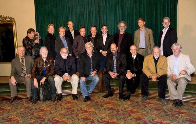 Gary Leva (Right of George Lucas) and The Fog City Mavericks