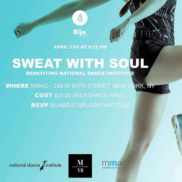 Another day, another dance. 💃 We're back with our widely acclaimed Sweat With Soul event on Wednesday April 5th. Get ready to move, shimmy and shake your way to happiness with our innovative approach! Did we mention all proceeds benefit the @NationalDanceInstitute? Follow the link up top for more details. See you there!