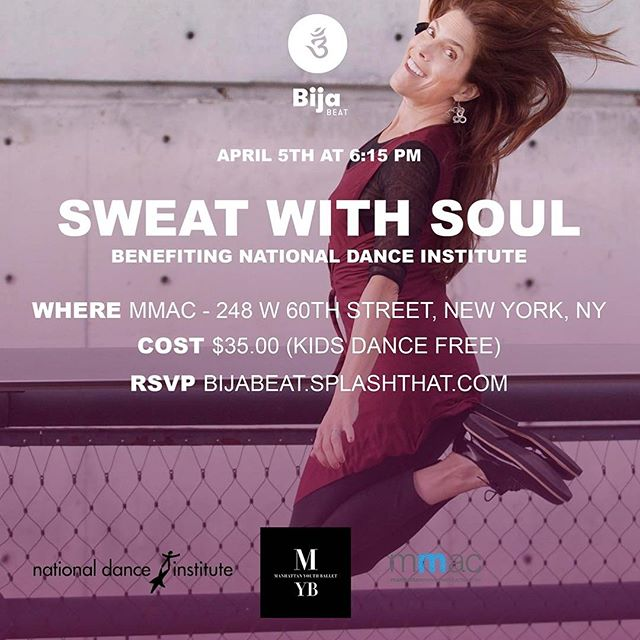 All you need is a good attitude, the will to do good and a love of dance to be successful at Sweat With Soul! 💃 Join us on Wednesday April 5th for another round of moving and grooving with our friends at @myballet1 and @nationaldanceinstitute. We'll be dancing for a really great cause and hope you will too. Get the details and reserve your spot at the link in our bio!
