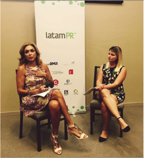 CIIC Miami's Amy Sedeño leading LatamPR panel with Gilda Torres of Communication Experts and Former Editor of Siempre Mujer