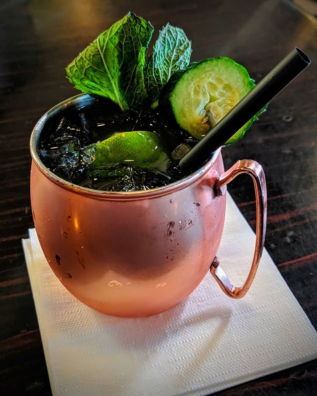 Our cucumber mule is like drinking a spring morning. Crisp, refreshing, full of life. . . #cucumbermule #moscowmule #cucumber #mule #drinkoftheday #cocktail #cocktailtime