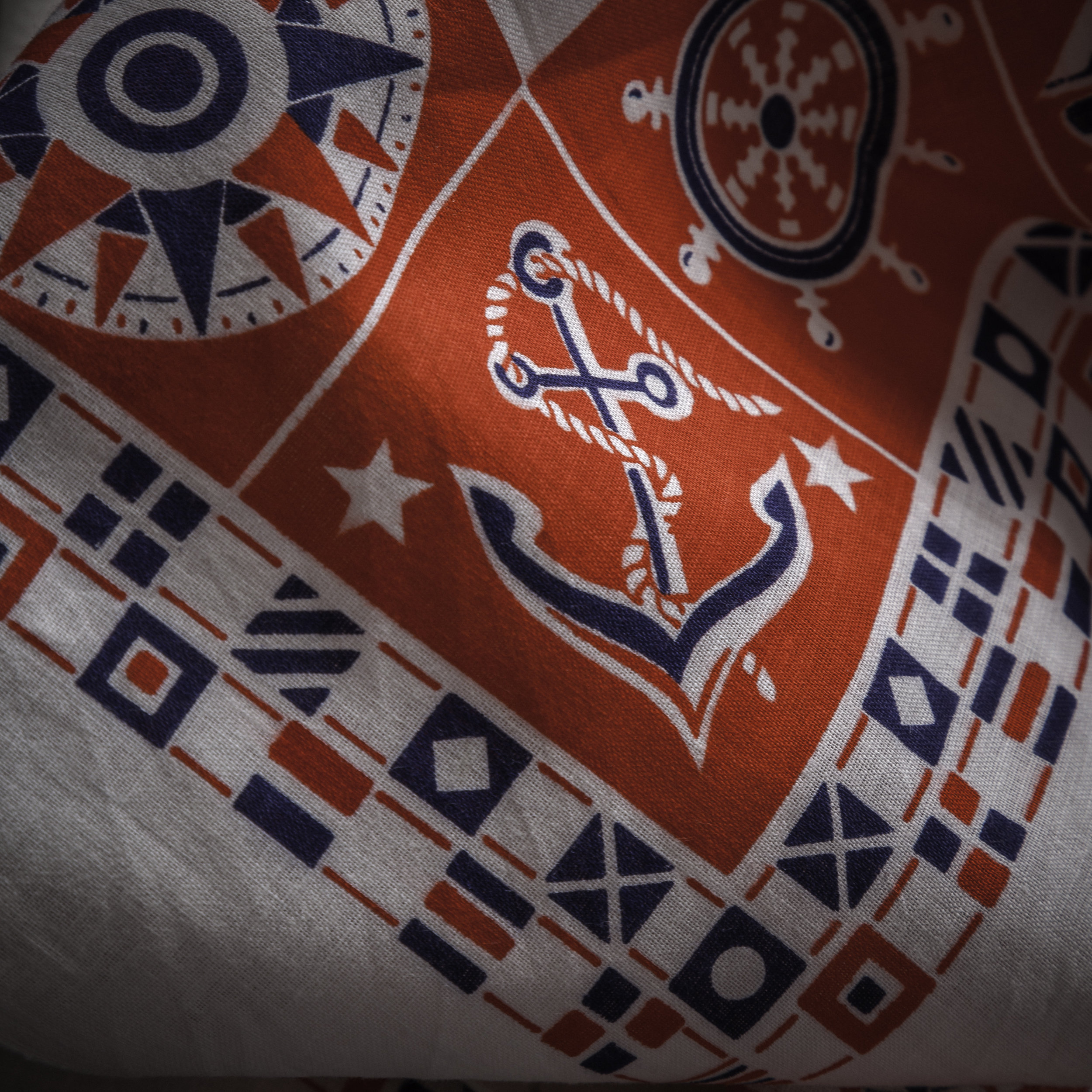 1950s Nautical Themed Bandana Detail