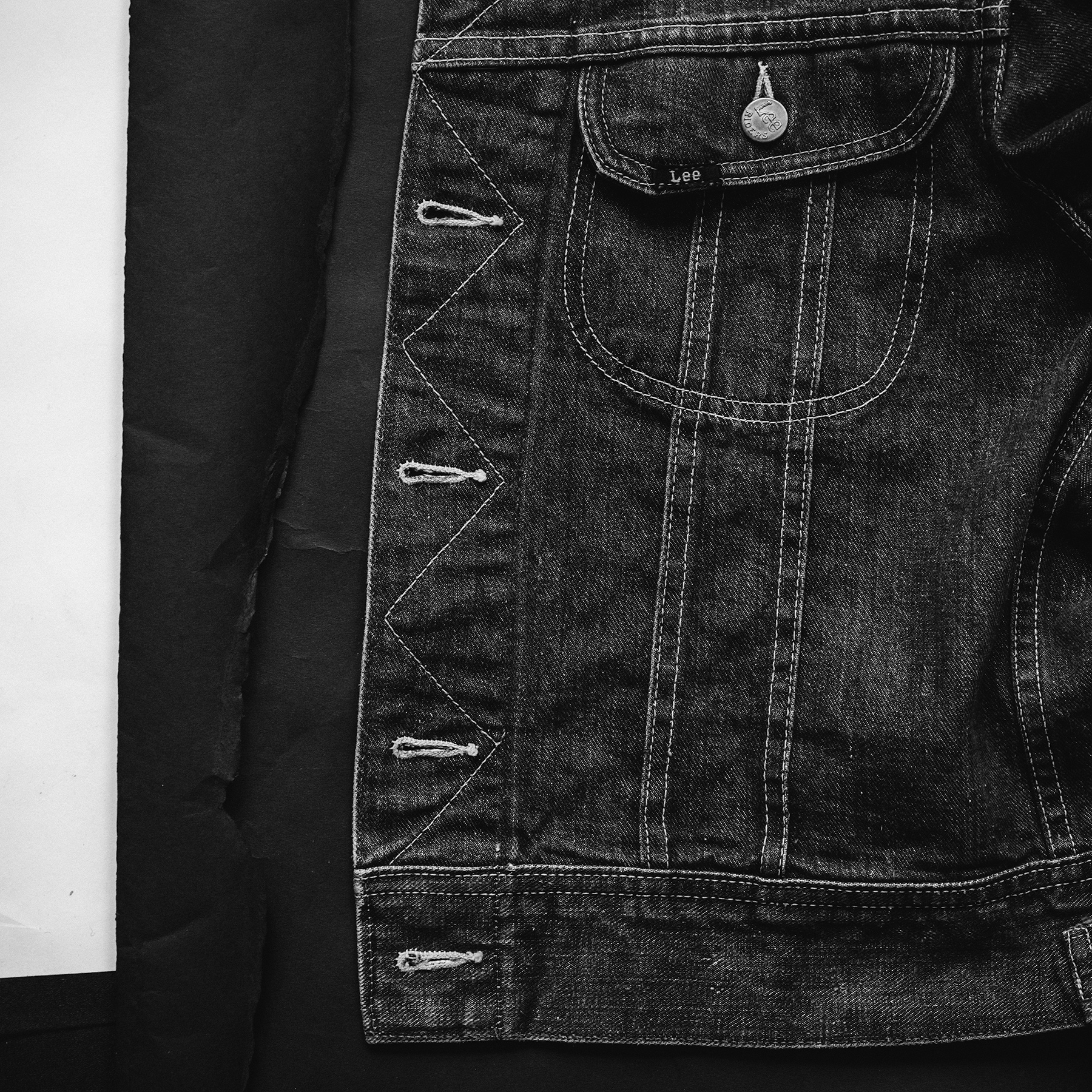 1950s/1960s Lee 101-J Denim Jacket Detail