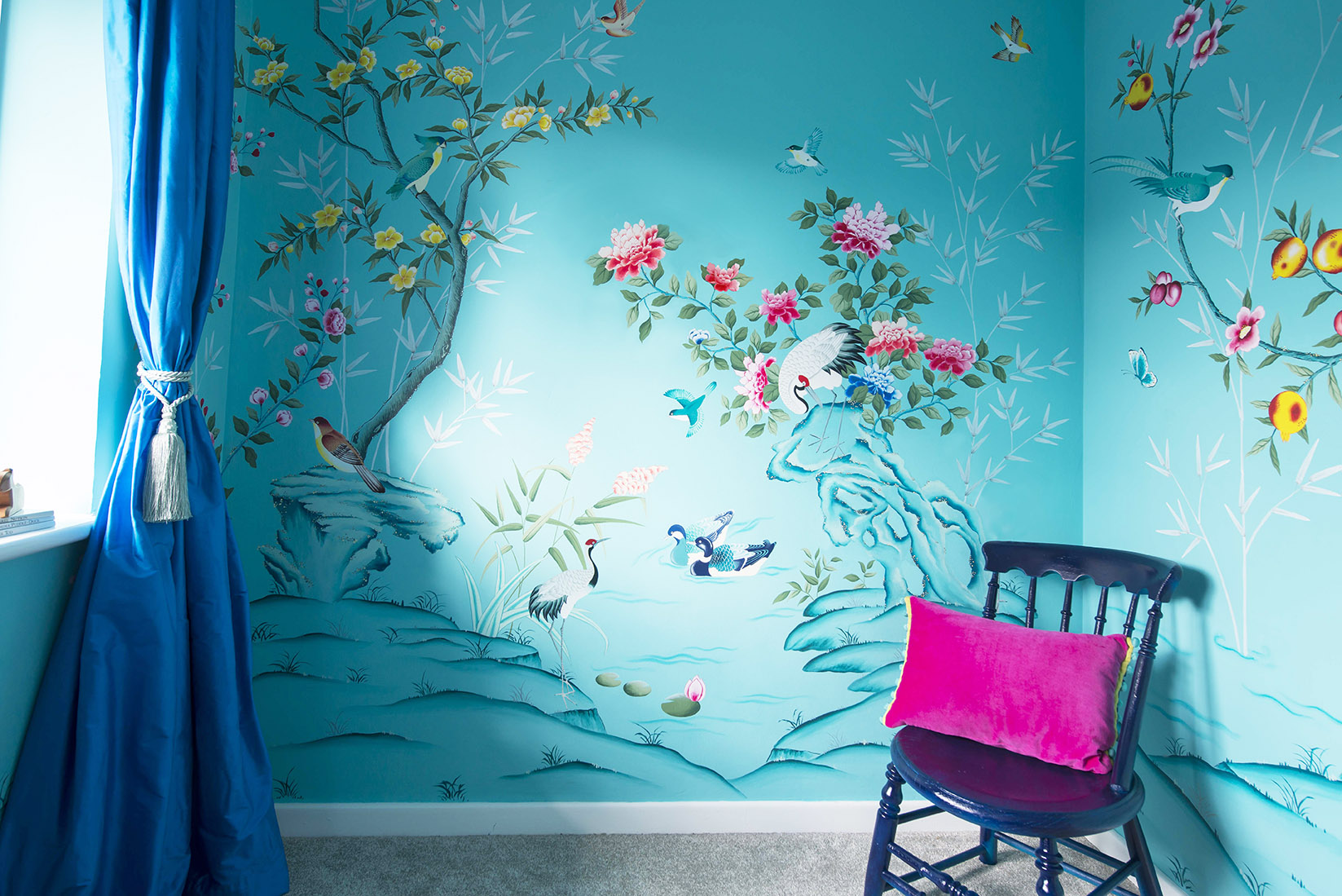 Diane Hill hand-painted chinoiserie nursery design