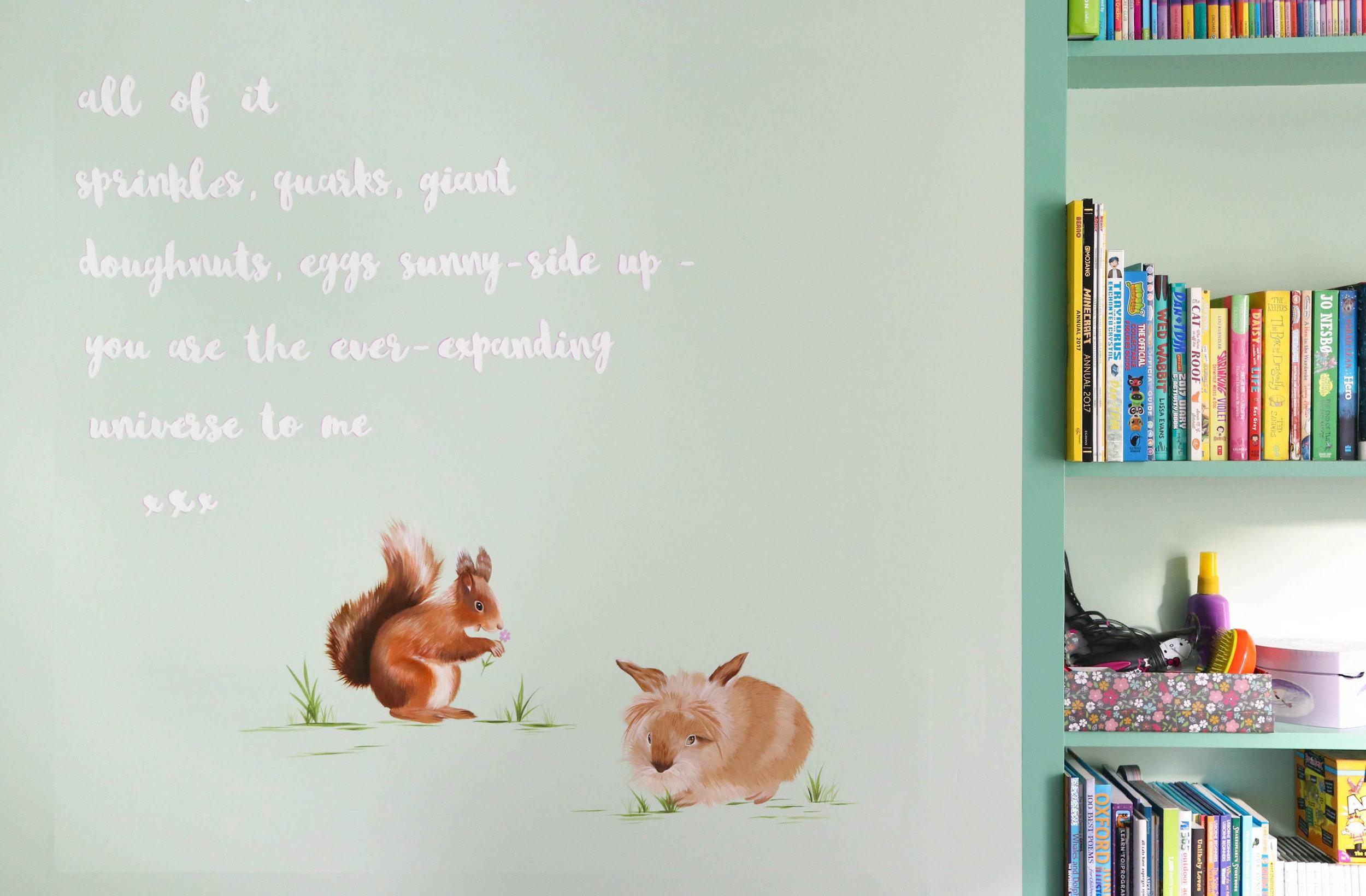 Poetry Mural Children's bedroom