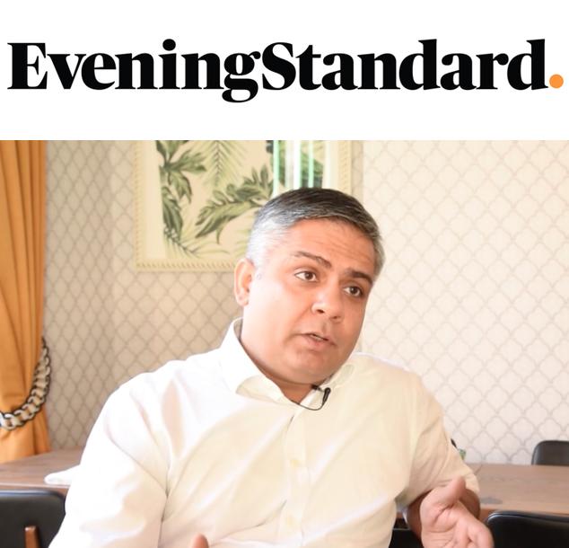 Chef Vivek Singh praises Diane Hill in Evening Standard, Dec 2016