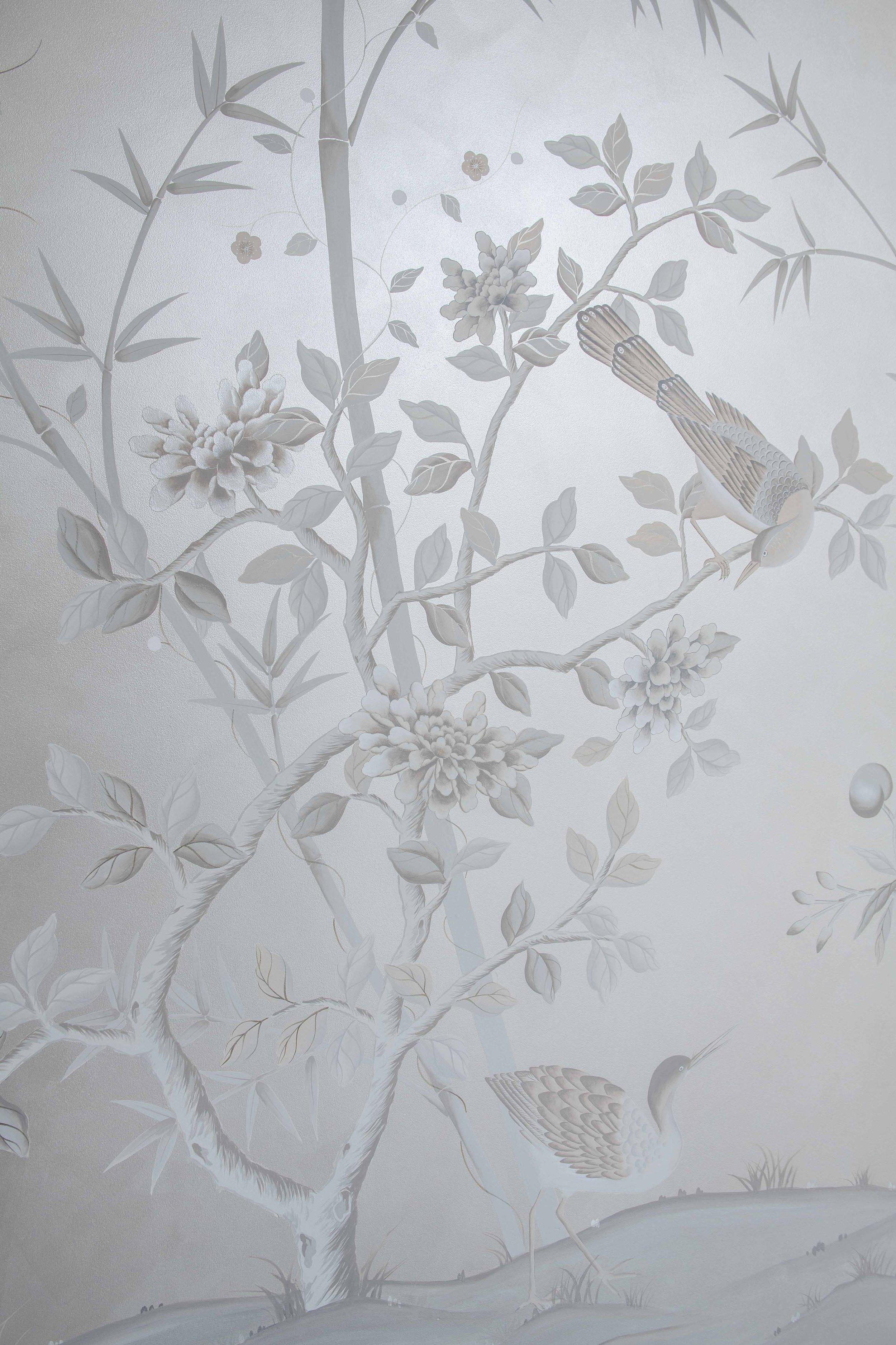 Diane Hill Handpainted Chinoiserie mural, hertford