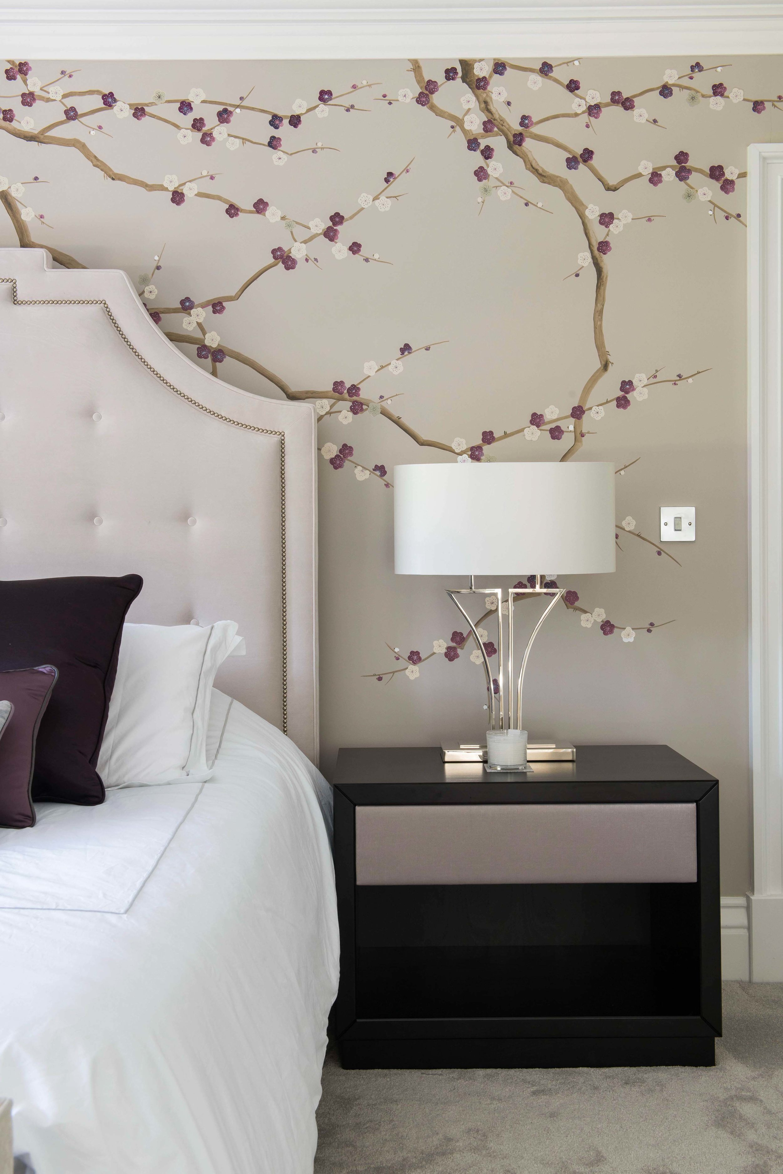 Diane Hill Design Plum Blossom Mural