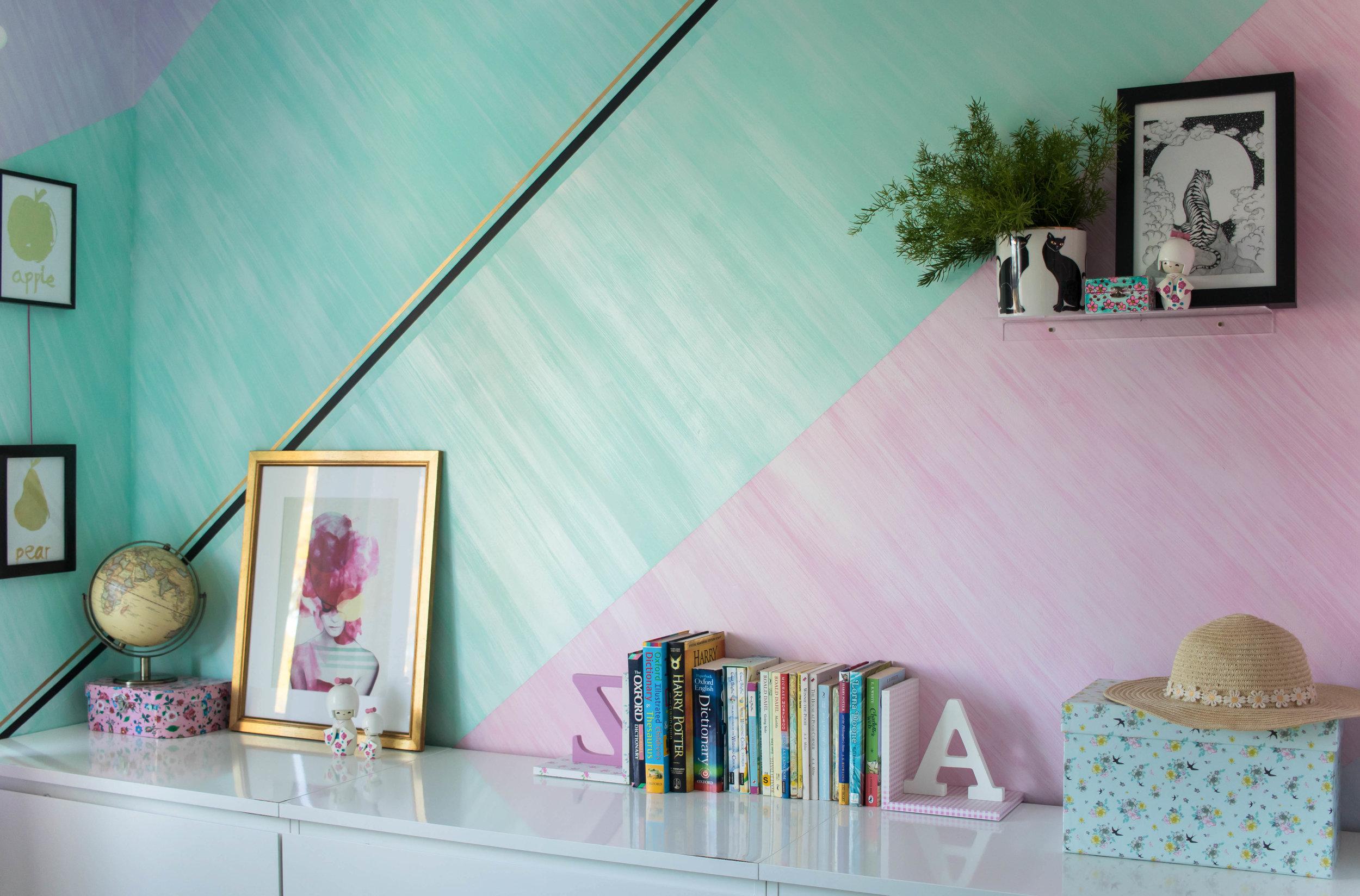 Girls bedroom mural diane hill design