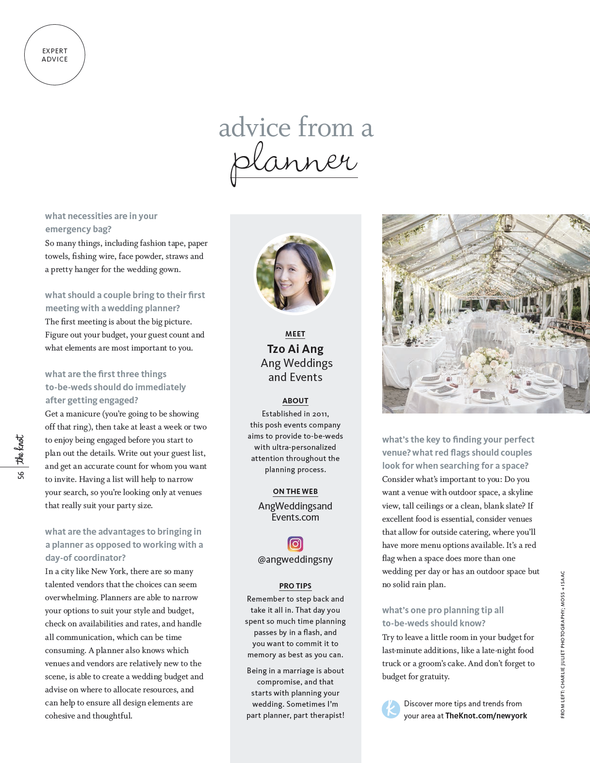 The Knot: Expert Advice from a Wedding Plannet