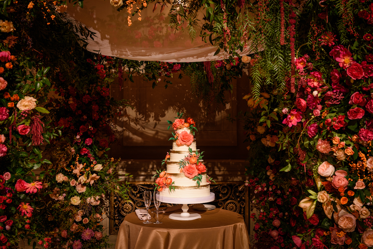 Weylin Wedding: Wedding cake by Nine Cakes under the chuppah
