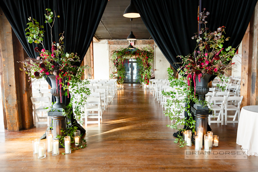 Liberty Warehouse Wedding | Wedding Planning Ang Weddings and Events | jewish wedding with florals by Putnam and Putnam