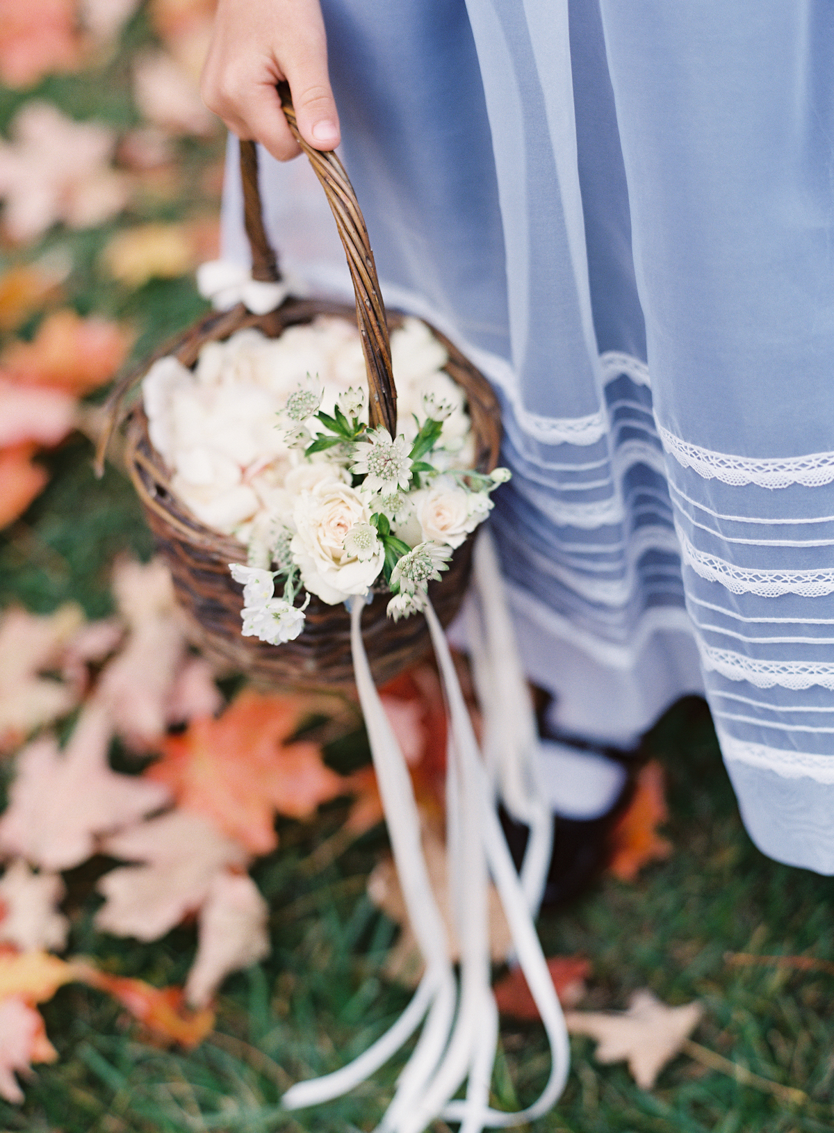Blue Hill at Stone Barns wedding, event planner Ang Weddings and Events, photography Judy Pak, flower girl basket Saipua