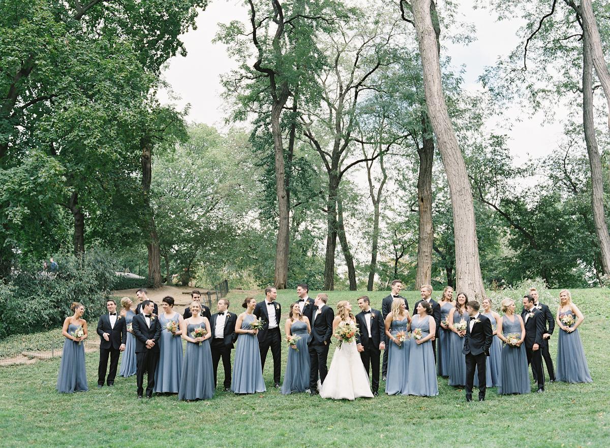 Bridesmaids and groomsmen at a Plaza wedding