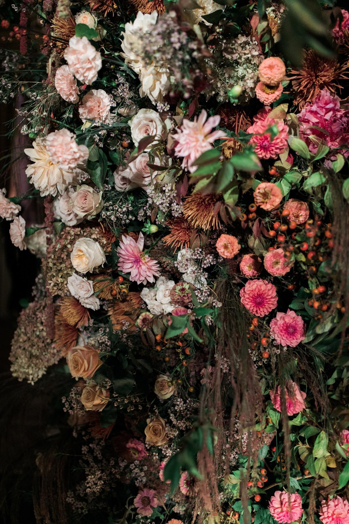 Plaza wedding flower details