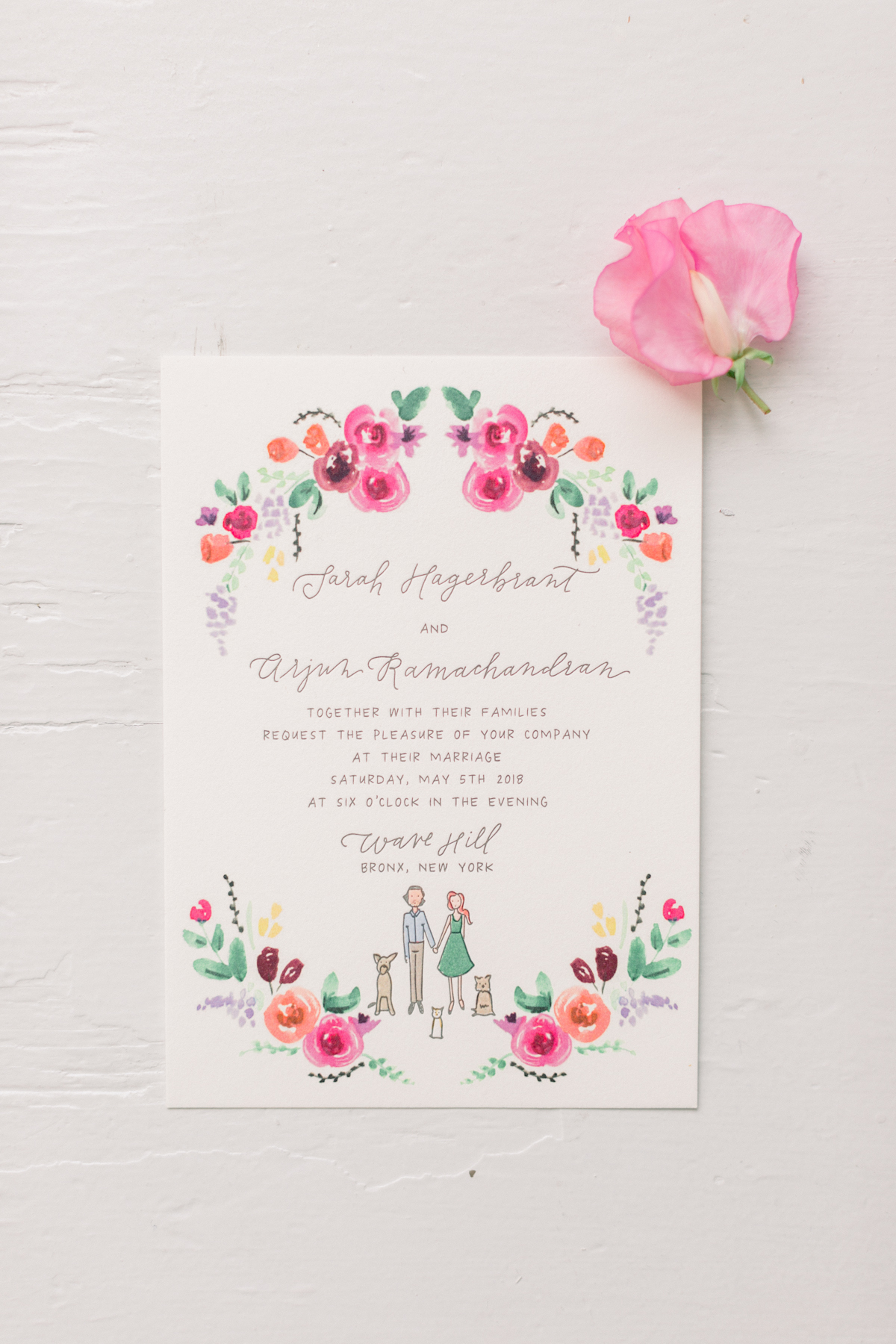 Wave Hill Wedding, photography by Mademoiselle Fiona, wedding planning by Ang Weddings and Events, flowers by Denise Fasanello, invitation by Printerette