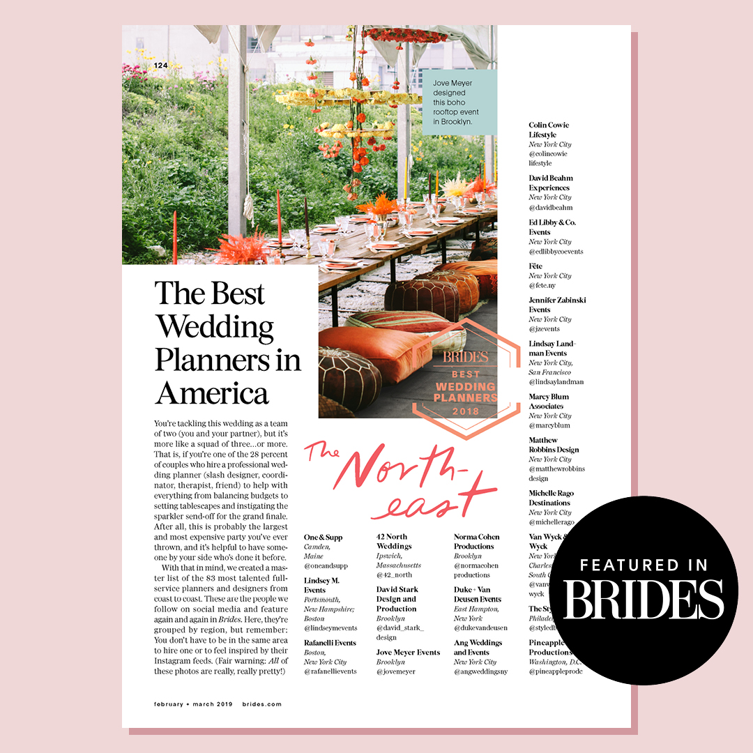 BRIDES: The Best Wedding Planners in America