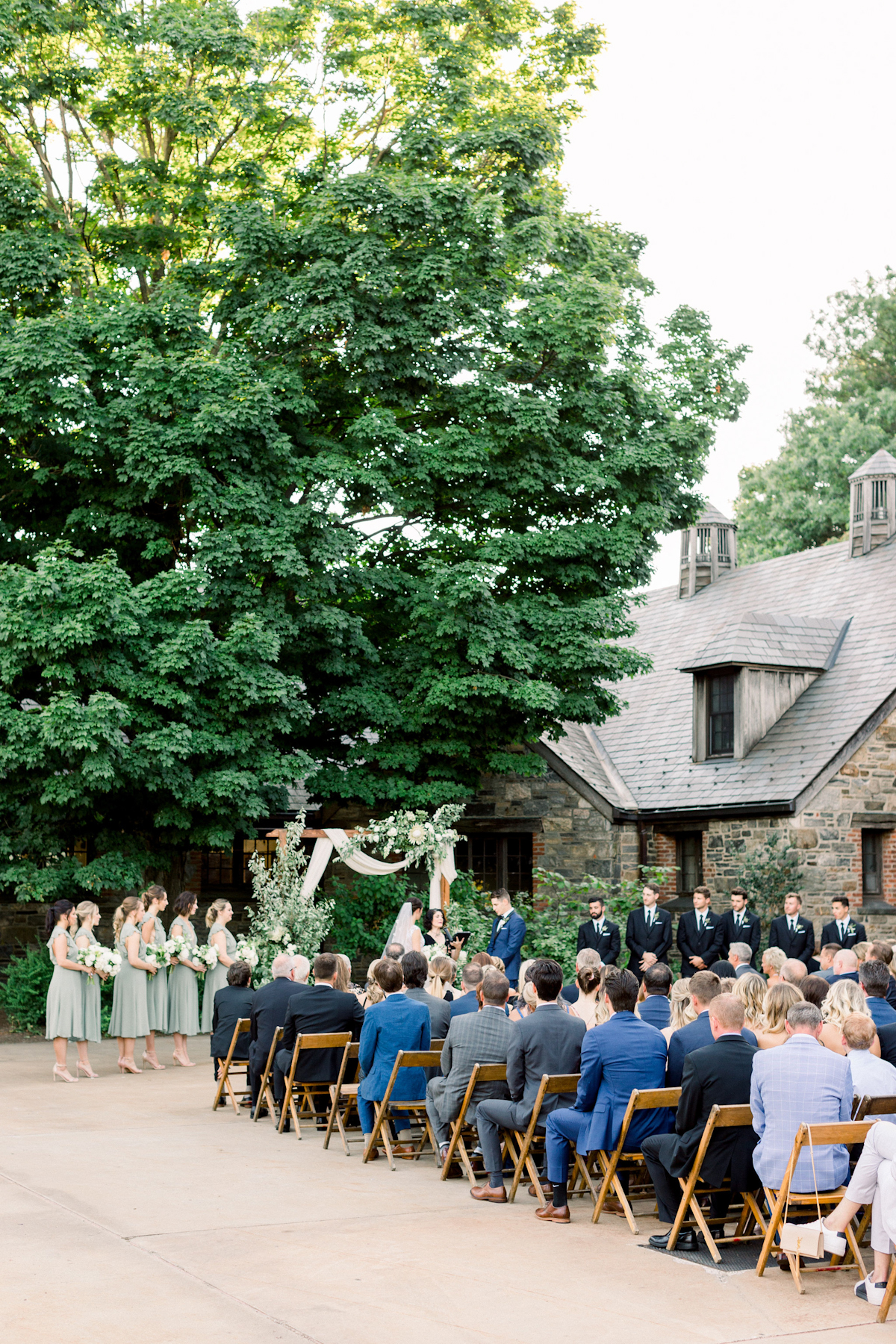 Outdoor wedding ceremony at Blue Hill at Stone Barns