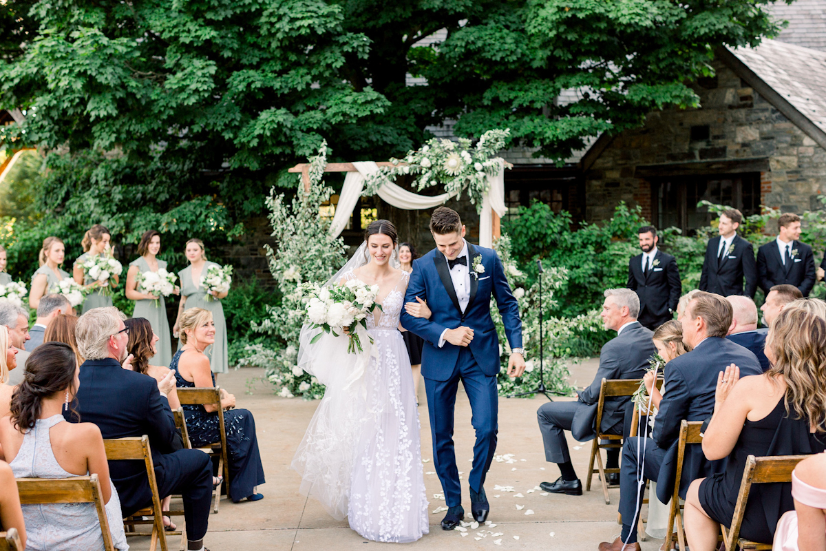 Bride and groom married at Blue Hill at Stone Barns