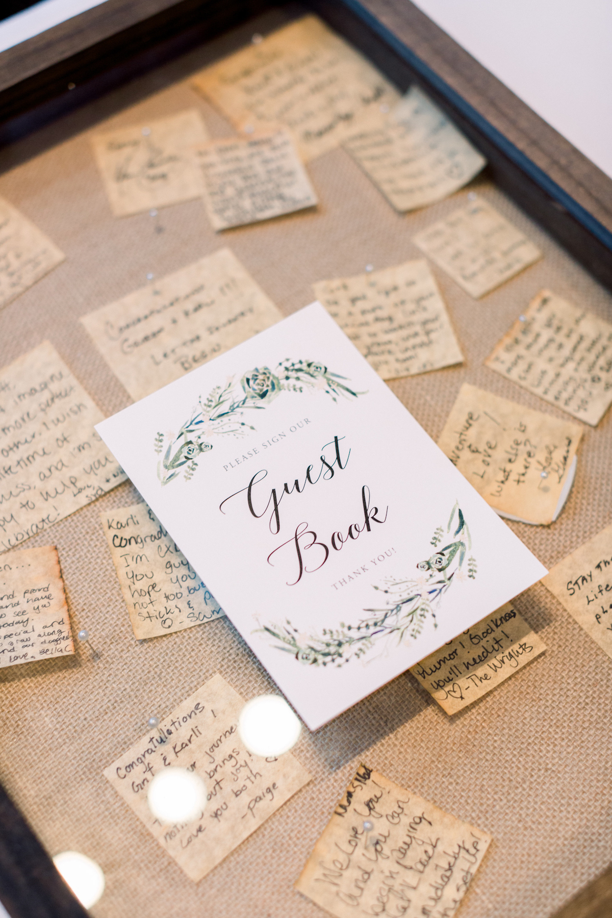 Guest book at Blue Hill at Stone Barns wedding