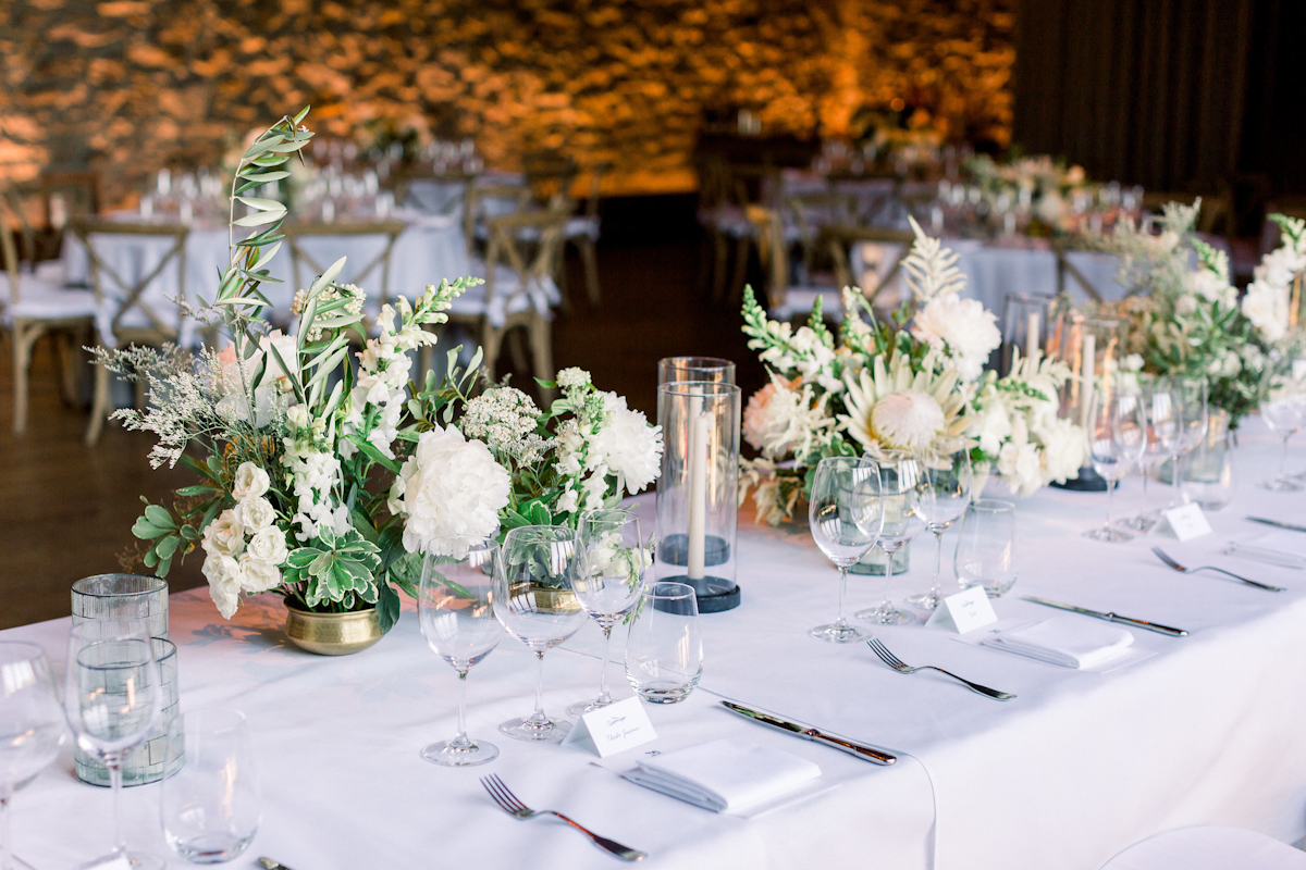 Blue Hill at Stone Barns wedding with long and round tables
