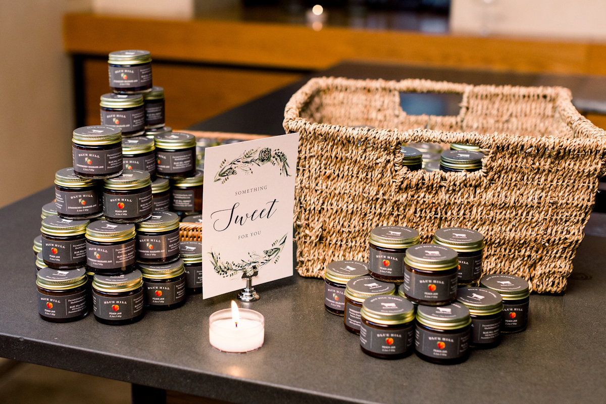 Blue Hill at Stone Barns wedding favors of seasonal jams