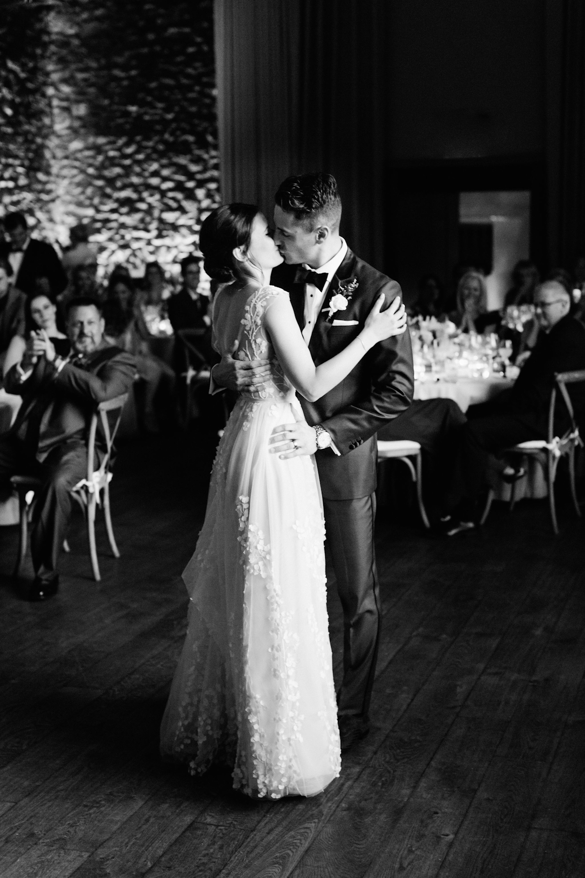 Bride and groom first dance at Blue Hill at Stone Barns wedding
