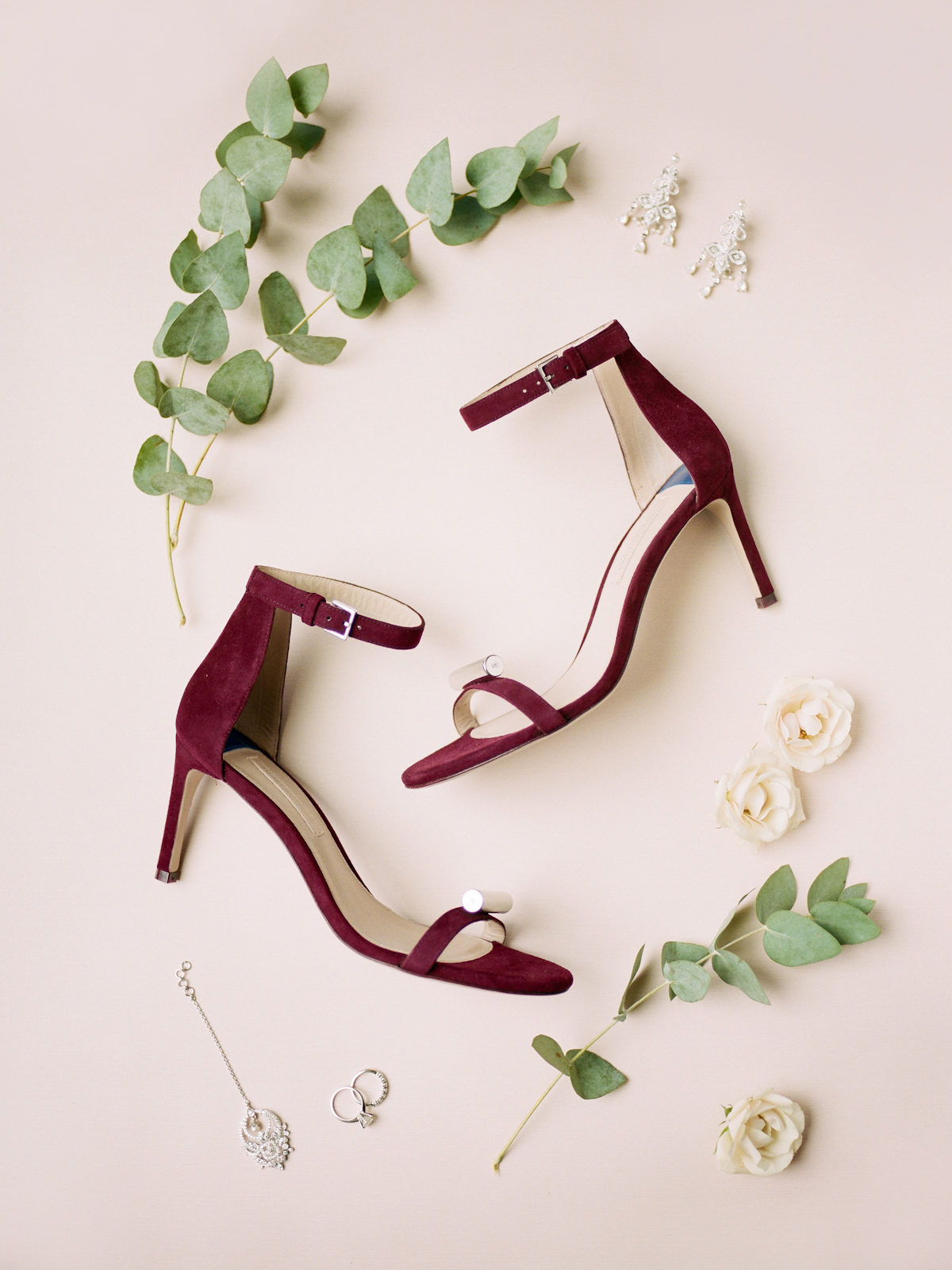 Red wedding shoes for Rainbow Room wedding
