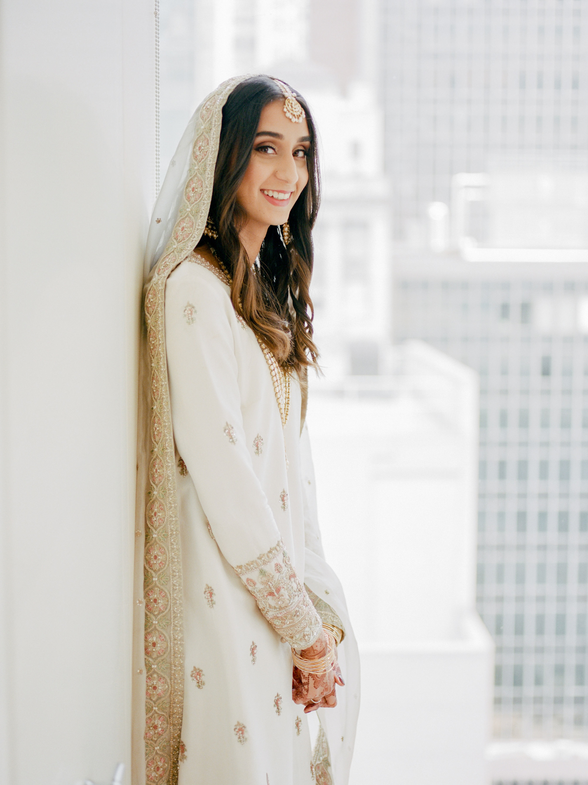South asian bride at a Rainbow Room wedding