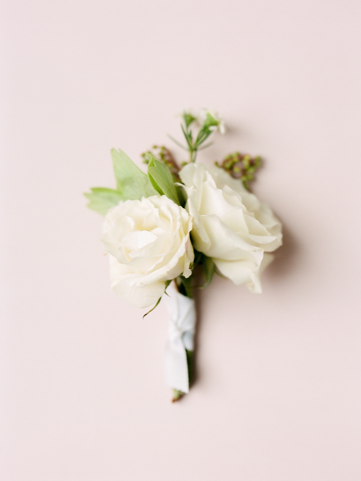Rose boutonniere for Rainbow Room wedding