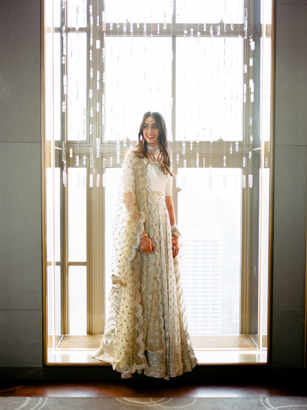 South asian bride at Rainbow Room wedding
