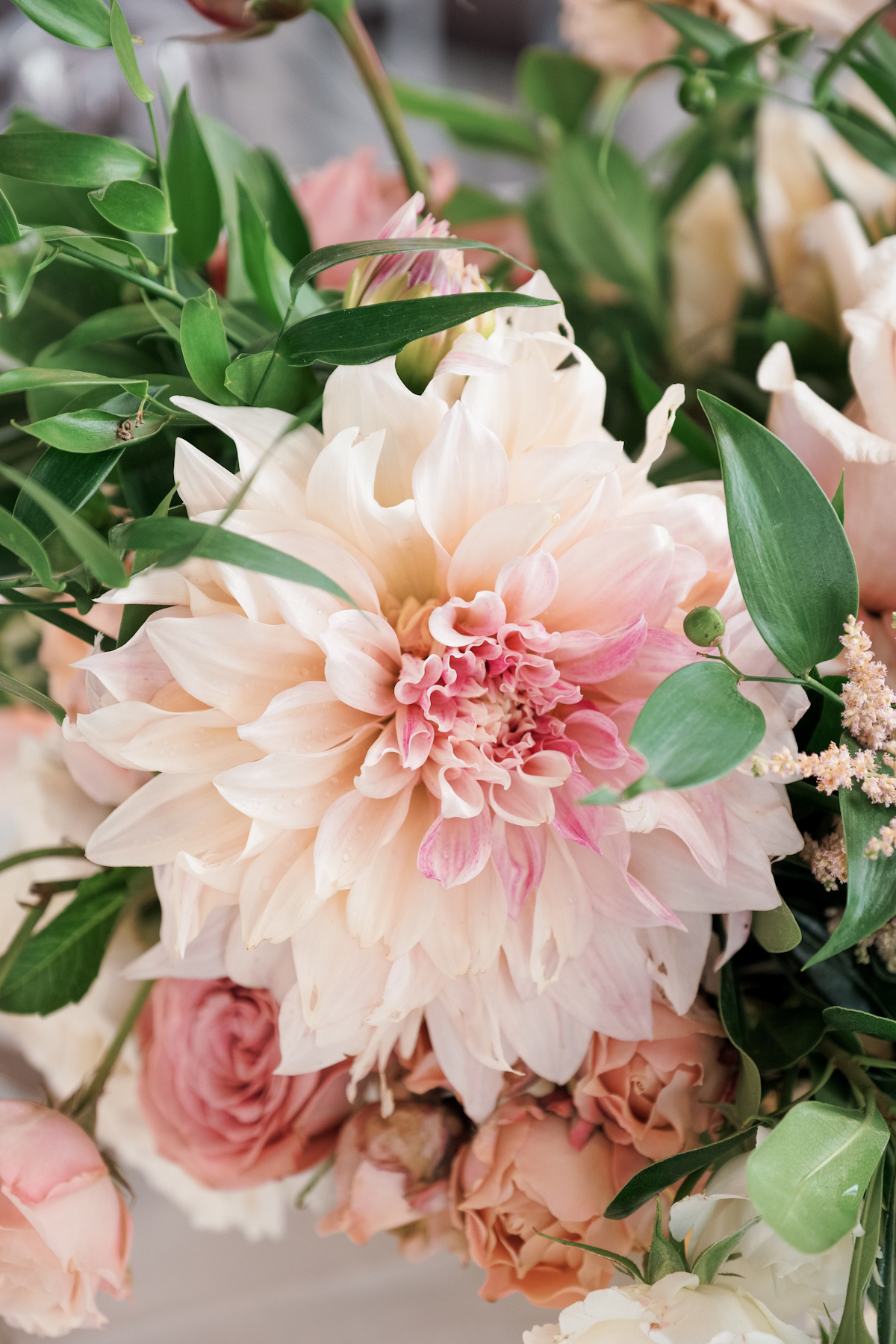 Rainbow Room wedding dahlia