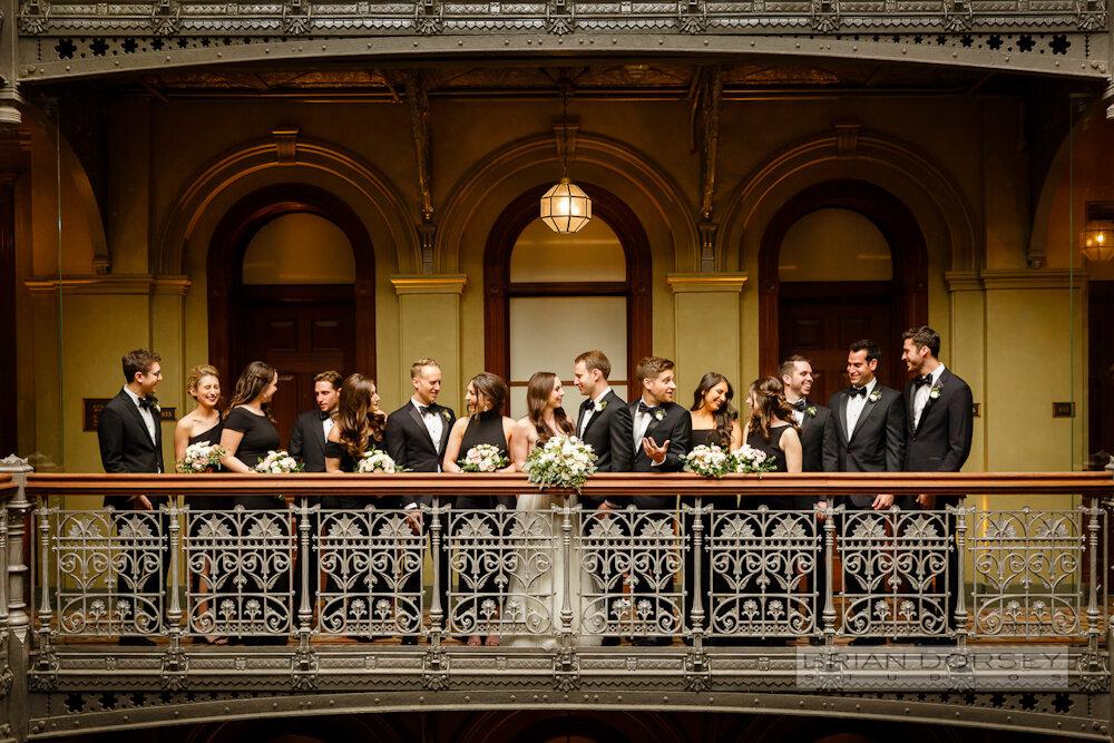 Cipriani wedding bridal party